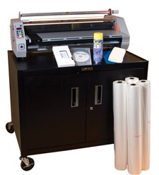 "DryLam 27STA System – 27"" Laminating System with Cart and Supplies"