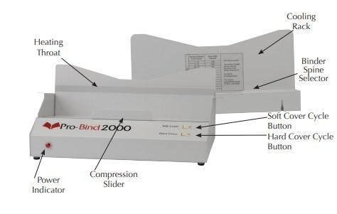 Pro Bind 2000 Thermal Binding Machine Pb2000 Finitura