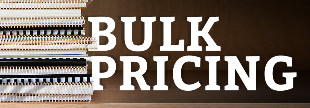 Bulk Pricing for Binding and Lamination Supplies