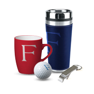 Brand-emblazoned cups and other merchandise